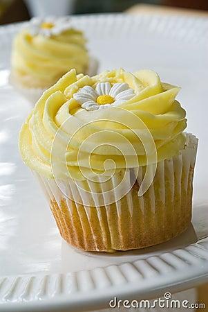 Lemon swirl cupcake