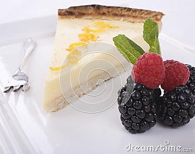 Lemon Tart and Fruit