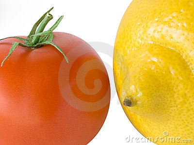 Lemon and tomato