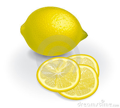Lemon and transparent slices