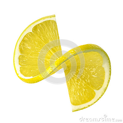 Free Lemon Twist Slice Isolated On White Background Stock Photo - 47170180