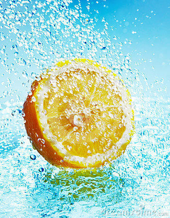 Lemon in water