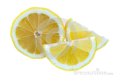 The lemon on white isolate background.