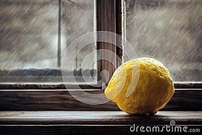 Lemon on the window