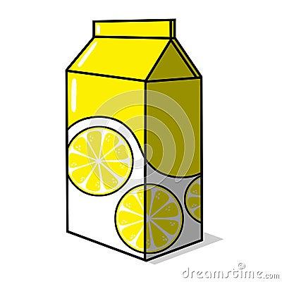 Lemonade carton illustration