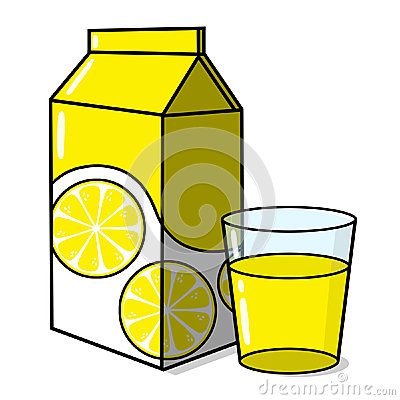 Lemonade and a glass