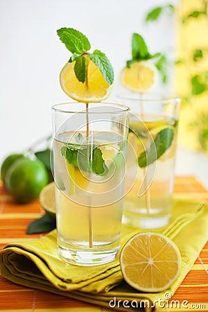 Lemonade with herbs