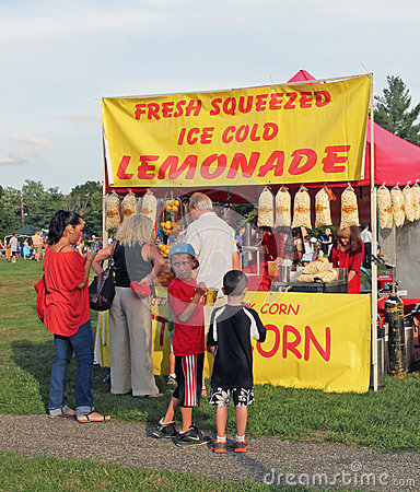 Lemonade Stand Editorial Stock Image