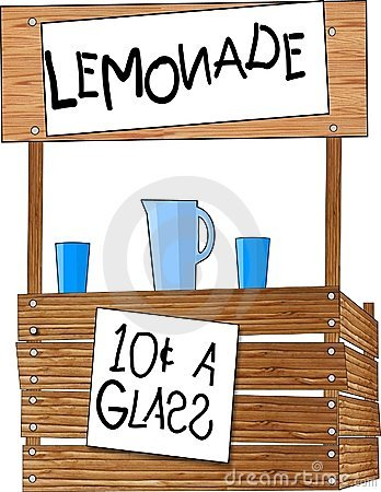 Lemonade Stand Cartoon Illustration