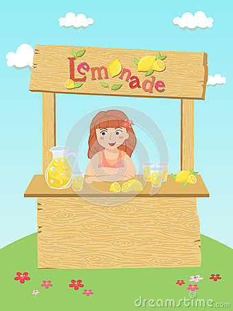 Free Lemonade Stand Girl Stock Photos - 74521283
