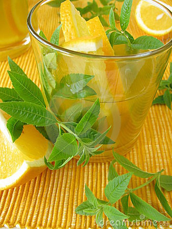Free Lemonade With Oranges And Lemon Verbena Royalty Free Stock Image - 21861476