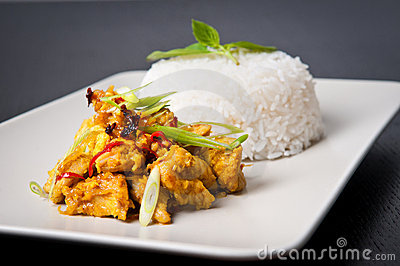 Lemongrass chicken dish