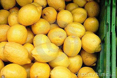 Lemons in a box