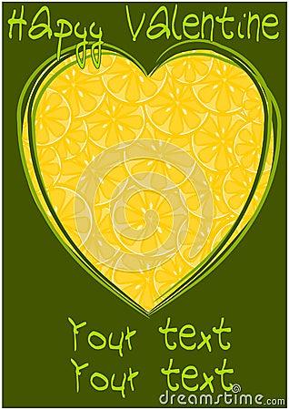 Lemons hearts - illustration