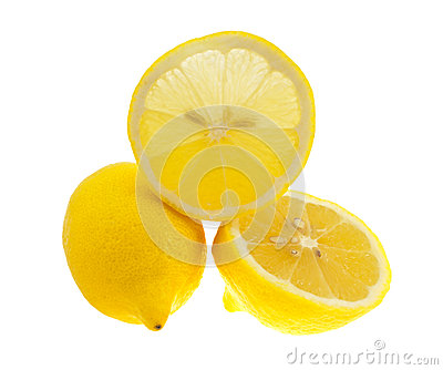 The lemons isolated on white.