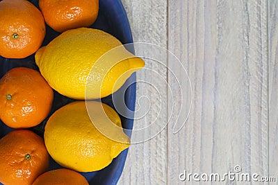 Lemons and mandarin oranges