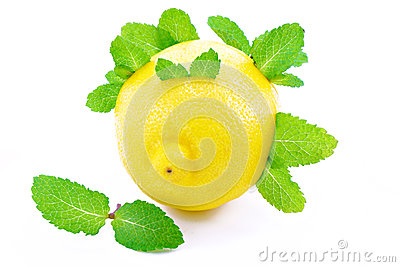 Lemons and mint .