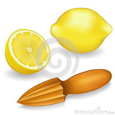 Lemons and Wood Lemon Reamer