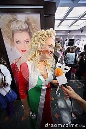 Lena Lenina at Venetian costume masquerade Editorial Image