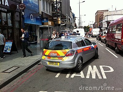 Lendemain du malaise le 8 août 2011 de Londres Image éditorial
