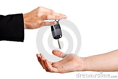 Lending key Stock Photo