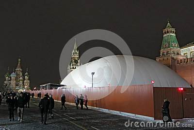 Lenin Mausoleum Editorial Stock Image