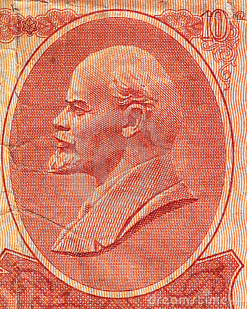 Lenin on the Soviet banknote