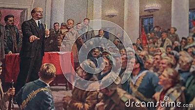 Lenin spricht auf einem Kongreß