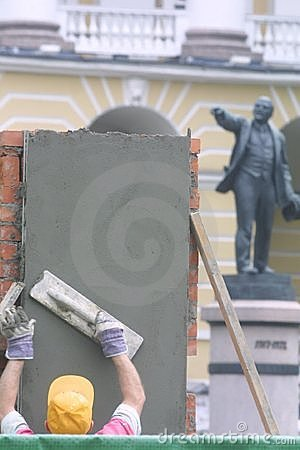 Lenin and worker