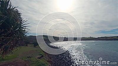 Lennox Head Boulder Beach Landscape Australia NSW Miejsce odpoczynku nad morzem zbiory wideo