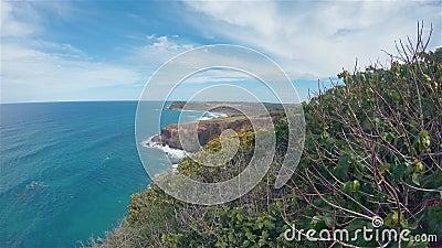 Lennox point - widok klifów lądowych Krajobraz Australia Miejsce odpoczynku nad morzem zdjęcie wideo