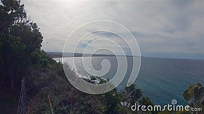 Lennox point widok z lądu, krajobraz Australia NSW Miejsce odpoczynku nad morzem zbiory wideo