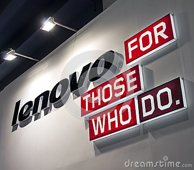 Lenovo logo Editorial Stock Image