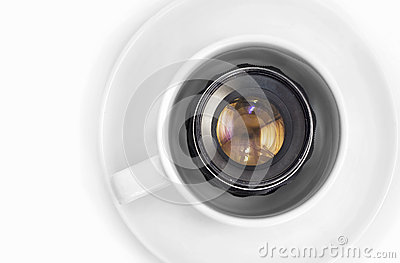 Lens in cup