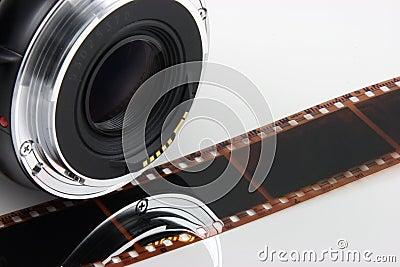 Lens film strip