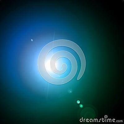 Lens flare effect. Vector background