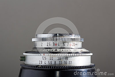 Lens of an old camera