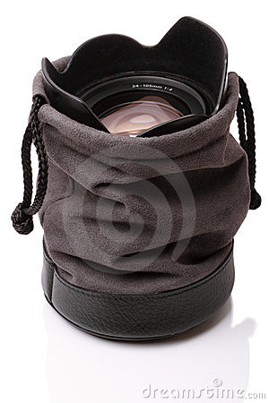 Lens in the soft case