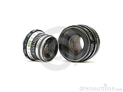 Lenses for analog cameras.