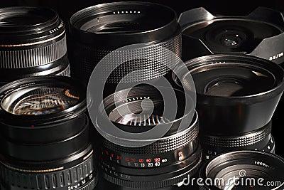 Lentes de câmera da foto.