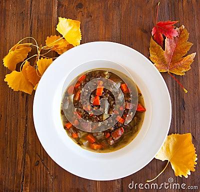 Lentil Andouille Soup