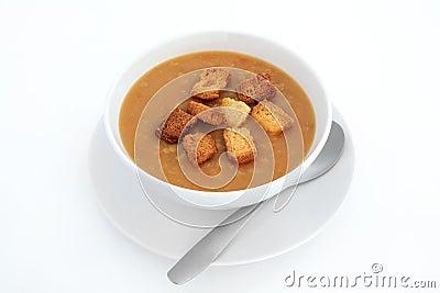 Vegetarian Lentil Soup With Croutons Recipes — Dishmaps