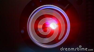 Lentille de projecteur de film