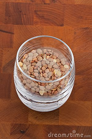 Lentils in Glass