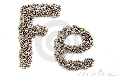 Lentils, symbolic iron food
