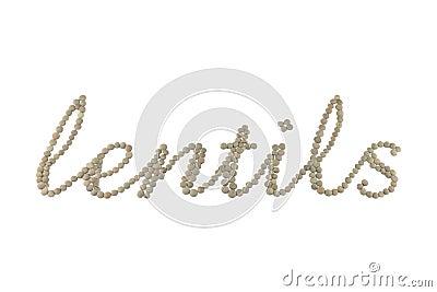 Lentils word