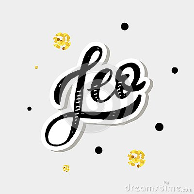 Free Leo Lettering Calligraphy Brush Text Horoscope Zodiac Sign Royalty Free Stock Images - 124847259