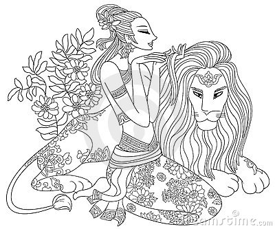 lion drinking water coloring pages   Leo Or Lion Twelve Zodiac Stock Photos - Image: 11812173