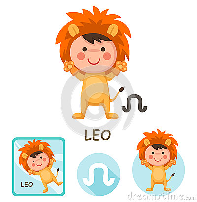 Free Leo Vector Collection. Zodiac Signs Stock Image - 65275661