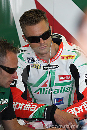 Leon Camier Aprilia RSV4 Factory Alitalia Editorial Photo